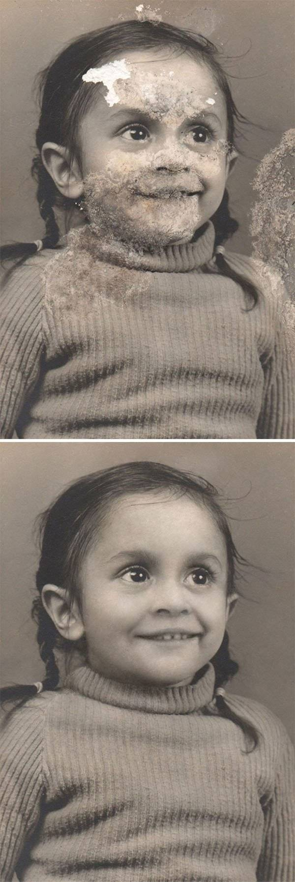 Woman Restores Almost Destroyed Old Photos And Explains How She Does It