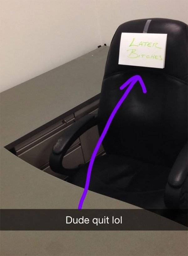 If You Are Going To Quit Your Job, Do It In Style