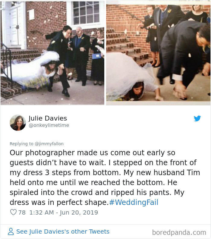 Jimmy Fallon Asks People About The Funniest Wedding Fails They've Seen