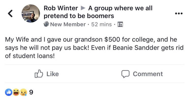 Millenials Hilariously Parody How Baby Boomers Interact On Facebook