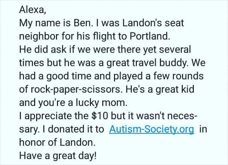 7-Year-Old Autistic Boy Alone On A Flight… But This Is A Story With A Happy Ending