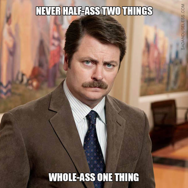 Ron Swanson Doesn't Even Care About His Own Quotes