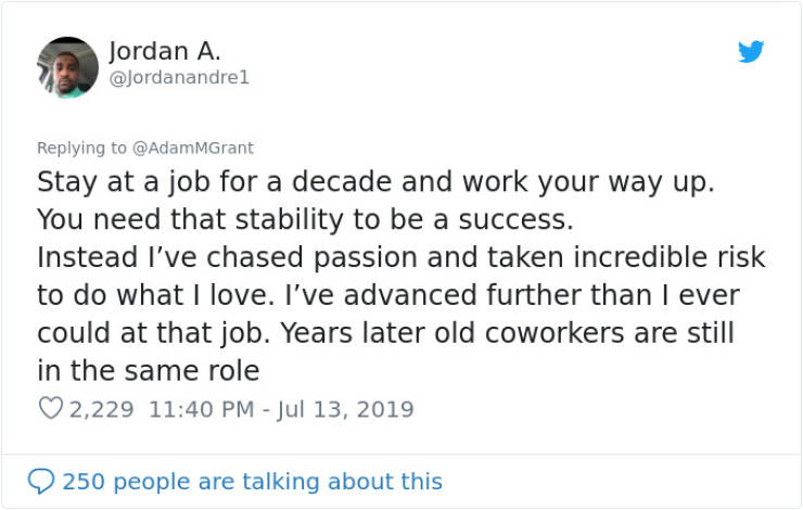 Share The Worst Career Advice You've Ever Received