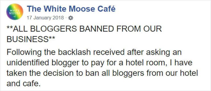 Blogger Begs For A Free Hotel Stay, Owner Responds