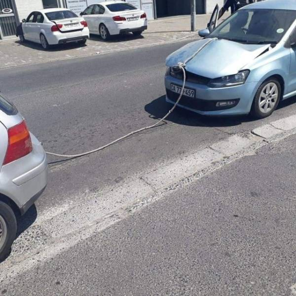 That's Not How You Tug A Car!
