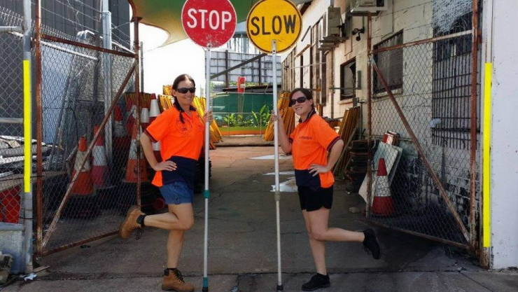 Girls Get Paid $130,000 A Year For Holding Street Signs