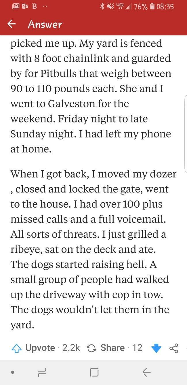 An Unreal-Sounding Story About A Guy And His Rude Neighbors