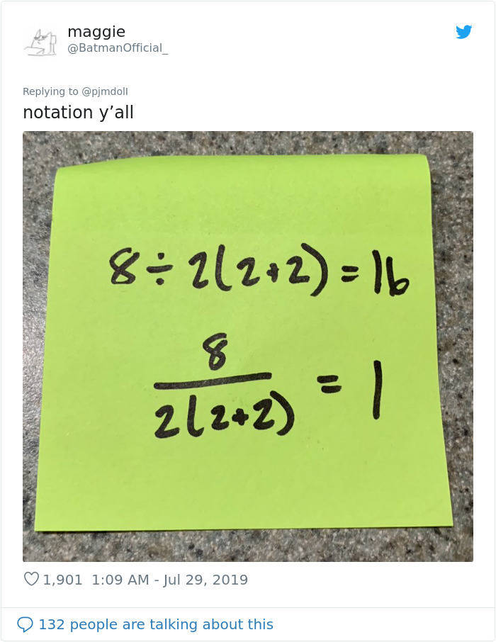 So What Is The Answer To This Math Equation?!