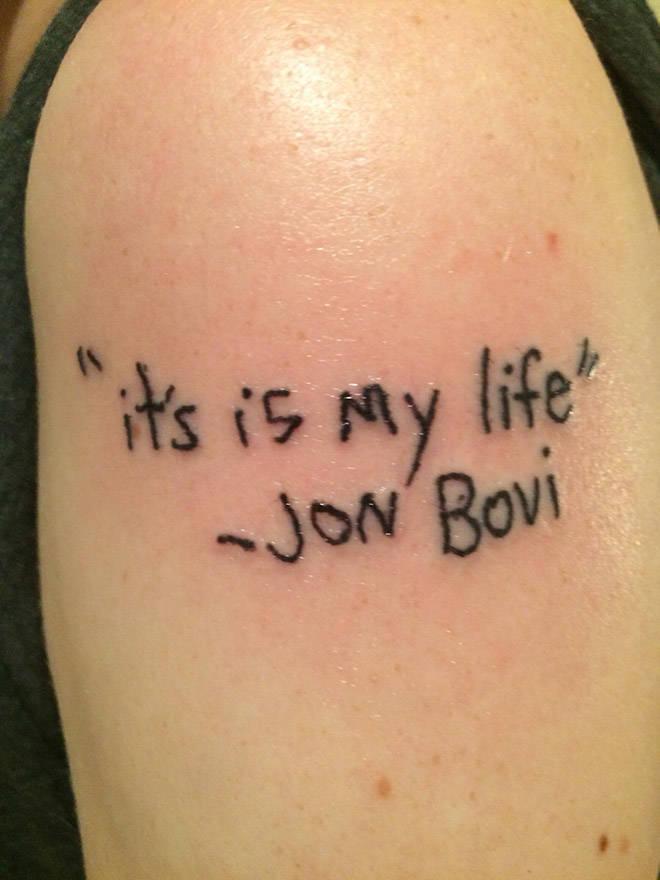 Misspelled Tattoos Are Like Immortalized Fails