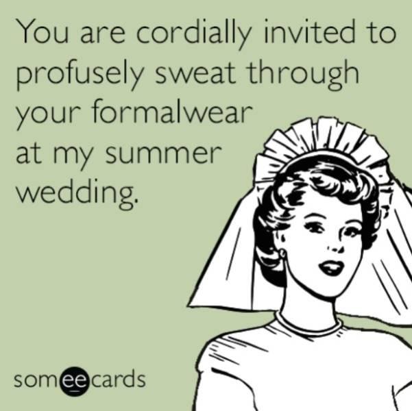 Sweat Through These Summer Wedding Memes