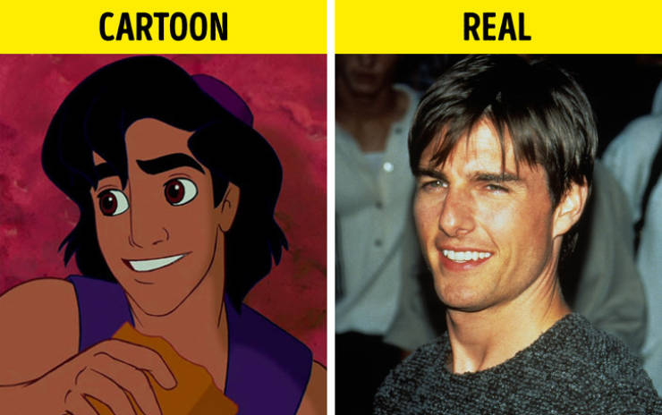Some Cartoon Characters Actually Have Celebrity Prototypes