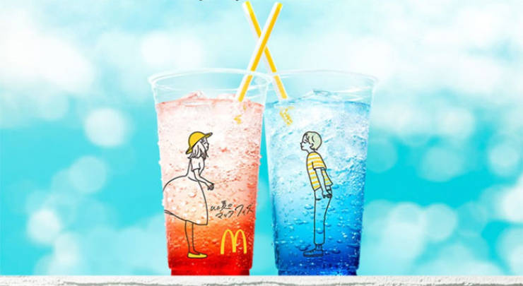 Is This Japanese McDonald's Cup Design Unintentional? Doesn't Look Like It…