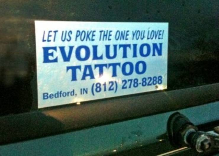 Tattoo Shops Know What Signs We Really Want