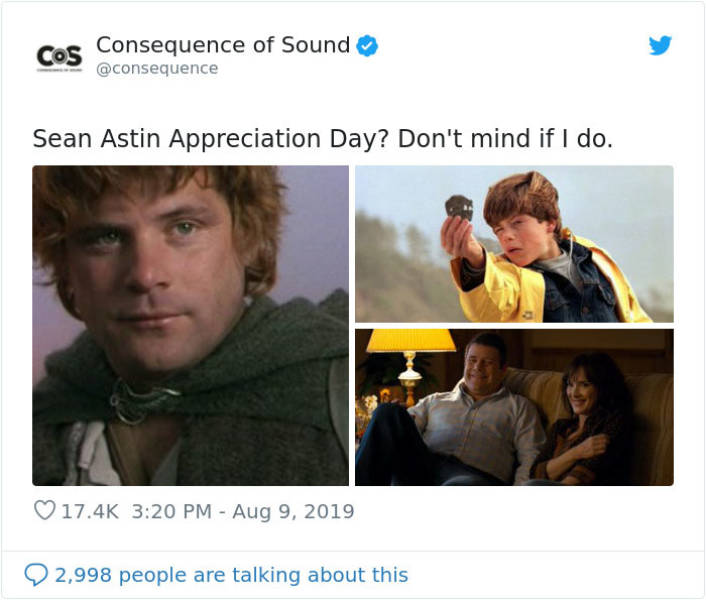 Just Sean Astin With An Otter, Nothing To See Here