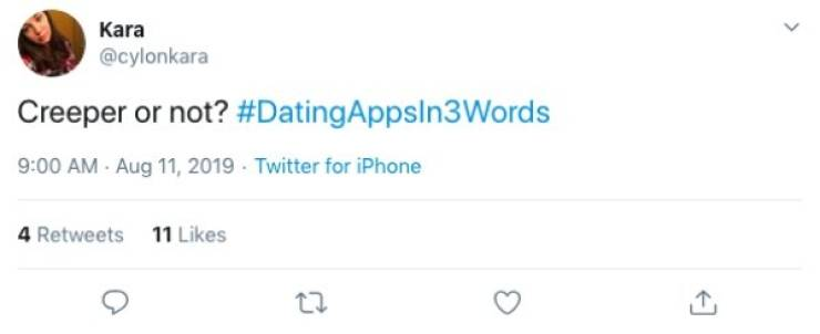 Three Words Is Enough To Describe Those Dating Apps