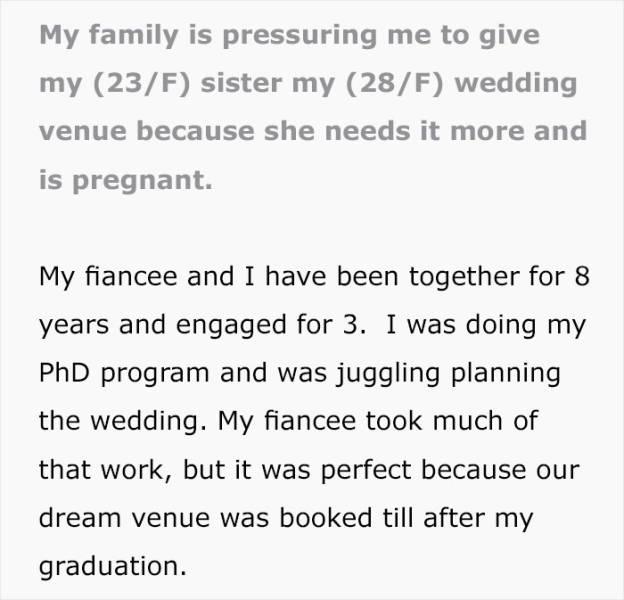 But It Was Her Dream Wedding Venue!