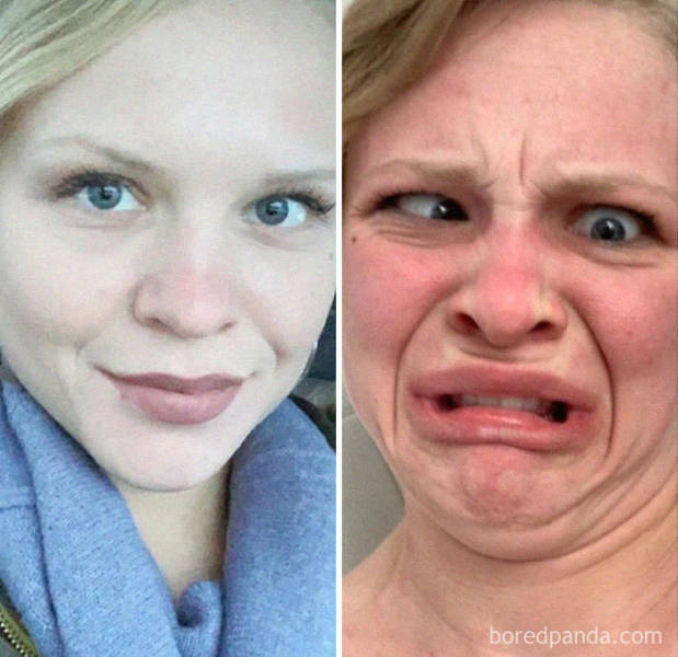 There's Only One Face Between A Pretty Girl And An Ugly Girl