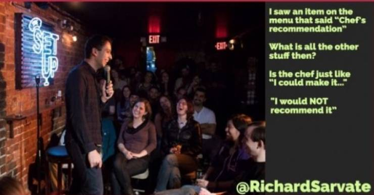 Stand-Up Comics Rain Their Humor From Above