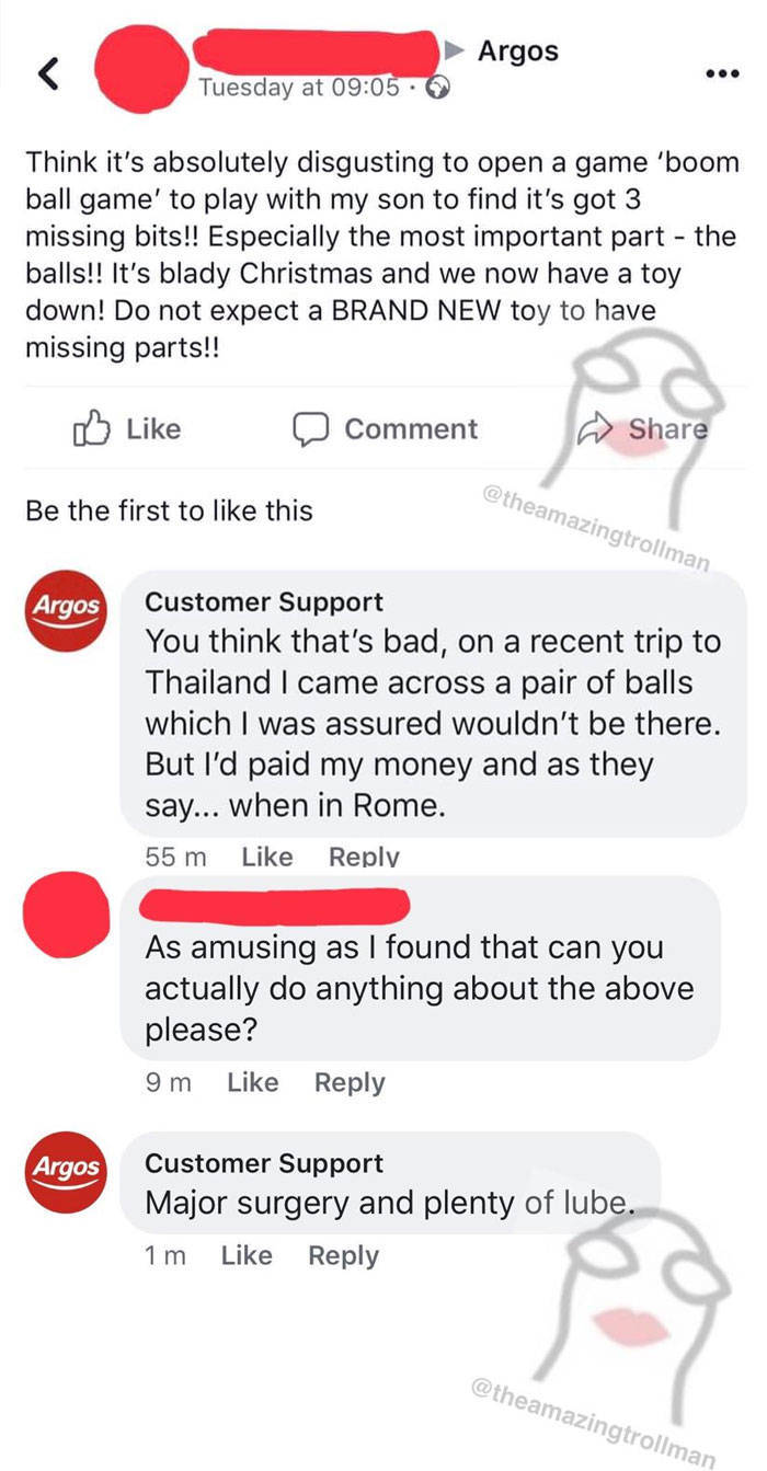 He's Not Really Representing Customer Support…