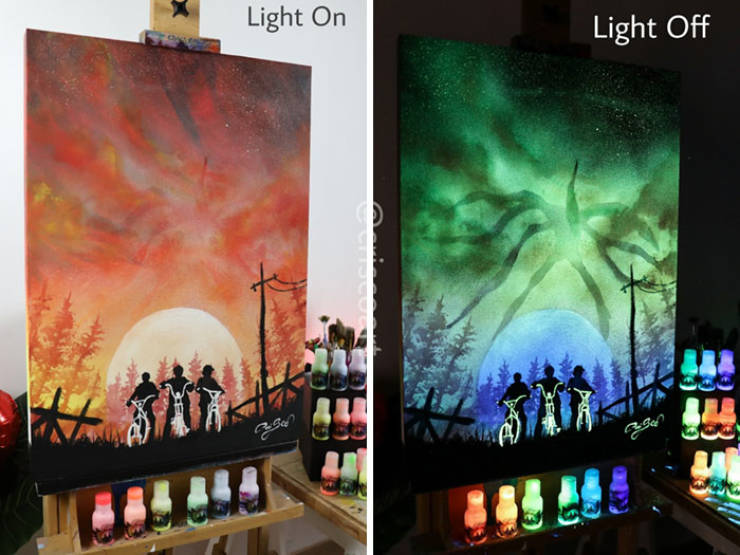 Turn Off The Lights And You Will See The Real Beauty Of These Paintings