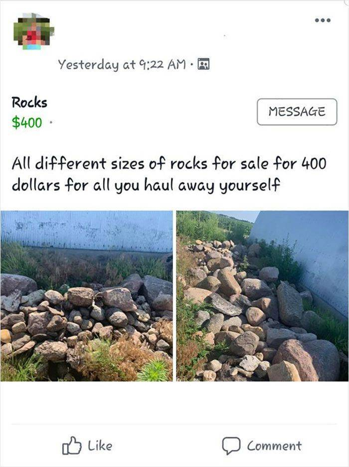 People Will Try To Sell Everything…