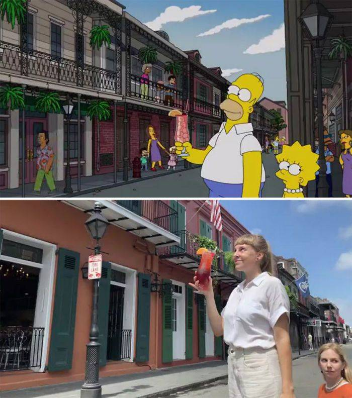 "Two Swiss Tourist Girls Go To New Orleans Only To Recreate ""The Simpsons"" Scenes"