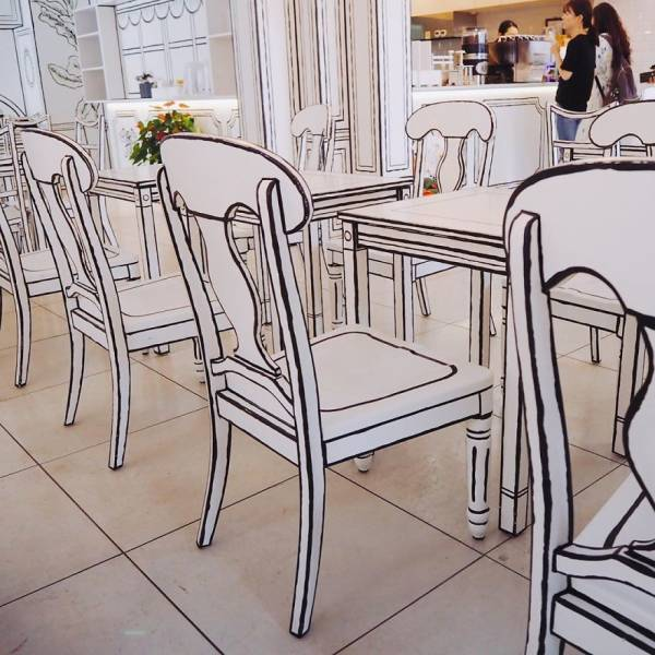 This Café Is Actually Made In 2D!