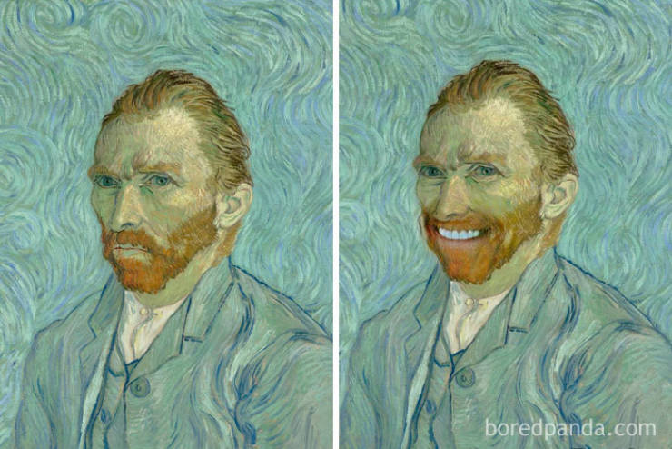 Famous Portraits Really Need To Smile