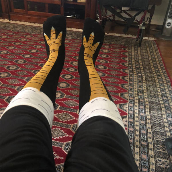 You Know You Want These Chicken Leg Socks