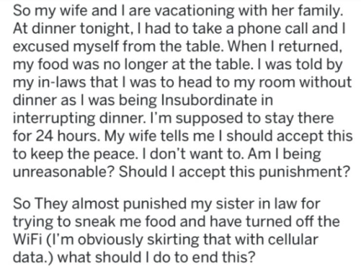 Father-In-Law Grounds A Grown Man, Who Turns To Internet For Advice