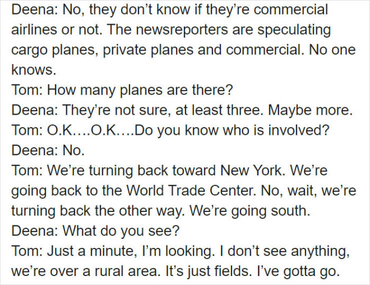 Final Words From One Of 9/11 Plane Passengers