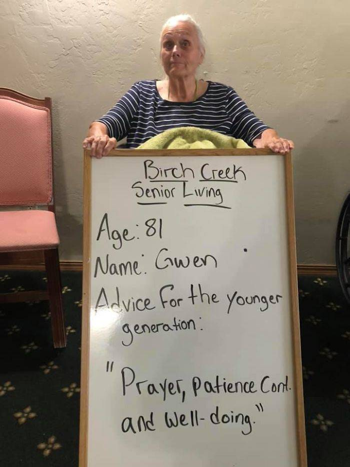 Seniors Give Advice To The Younger Generation