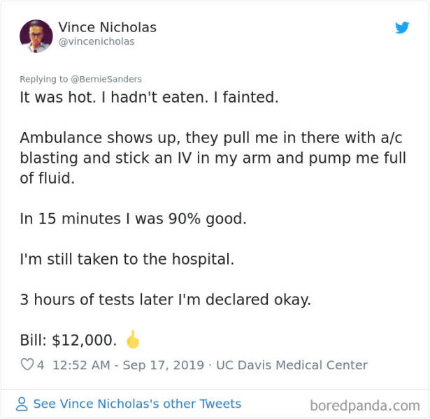 USA Has The Most Ridiculous Medical Bills…