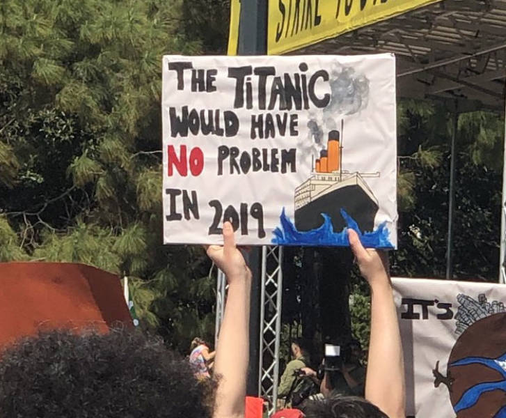 Climate Change Strike Was A Witty One
