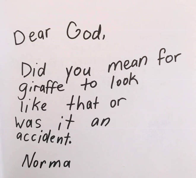 Children With Brutally Honest Letters To God