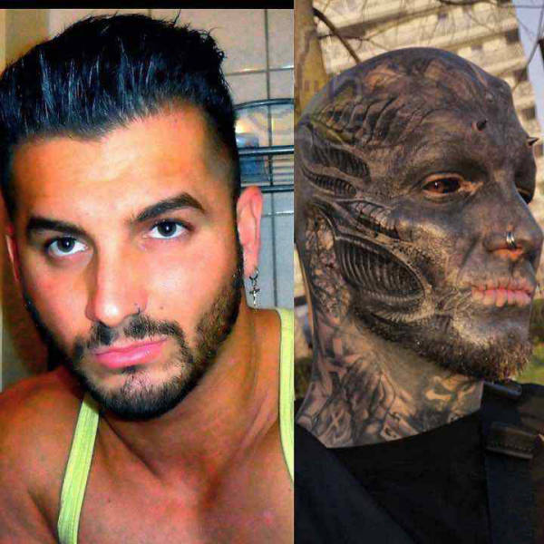 Guy Wanted To Turn Into A Black Alien 9 Pics Izismile Com