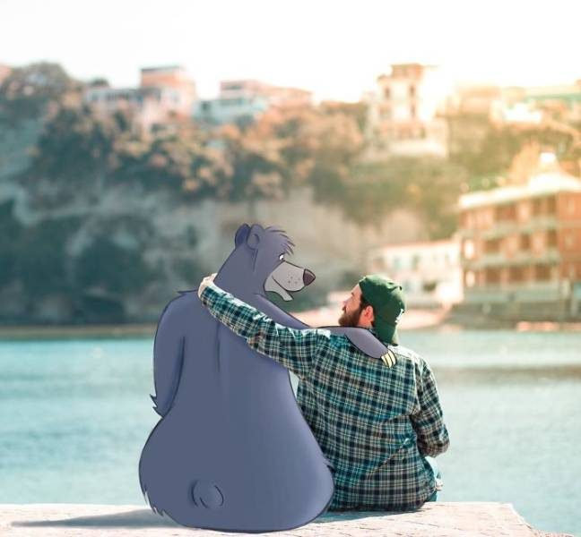 This Guy Is Hanging Out With Disney Characters In Real Life