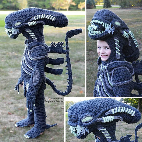 These Hand-Crocheted Halloween Costumes Are Awesome!