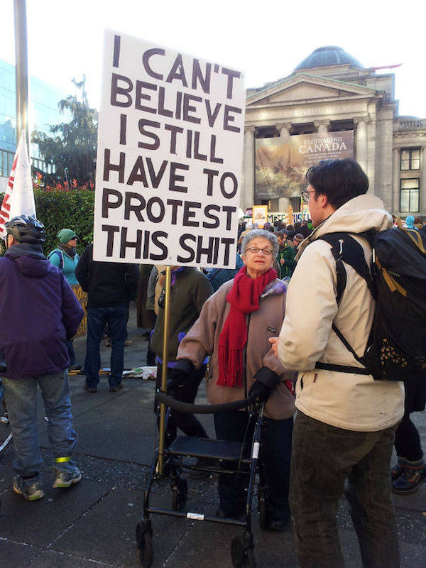 Some Protest Signs Are There Just To Be Funny