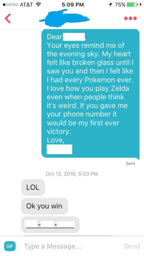 Tinder Pick-Up Lines Are Not To Be Used In Real Life