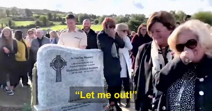 Irish Man Pranks His Family At His Own Funeral