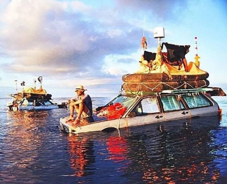Imagine Crossing The Atlantic In A Floating Car