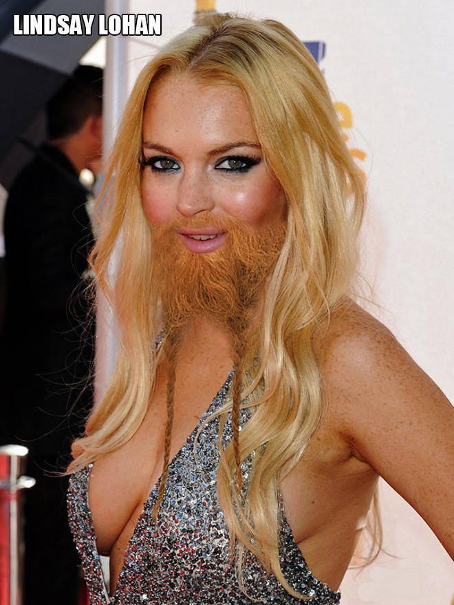 Oh No, It's Female Celebs With Beards!