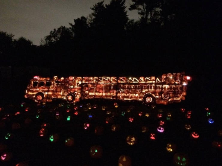 At Least These Jack-O'-Lanterns Are Original!