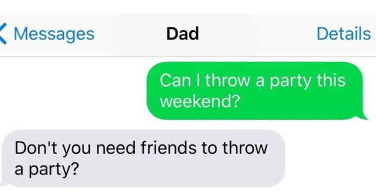 Dads Are Too Good At Texting