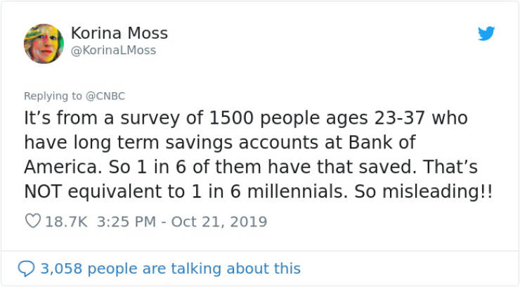 Survey Says 1 In 6 Milleanials Have $100 Thousand Saved. People Are Still Looking For Those Lucky Bastards…