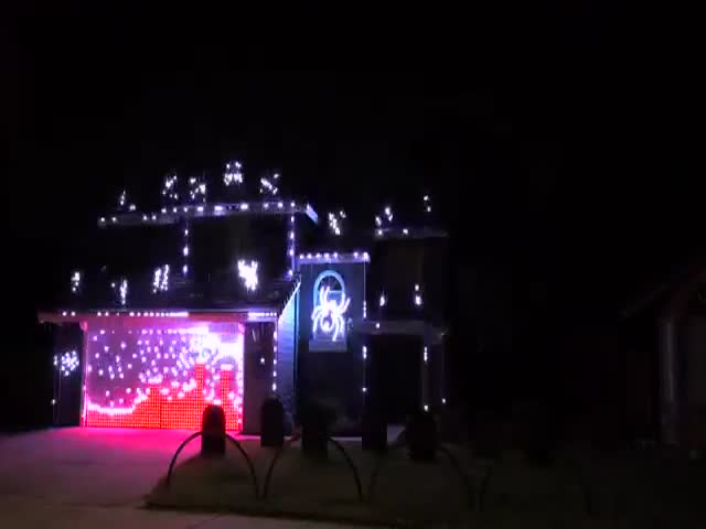 Now This Is A Halloween Light Show!