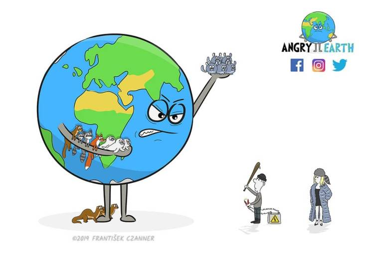 Illustrations About What Humanity Does To Our Planet