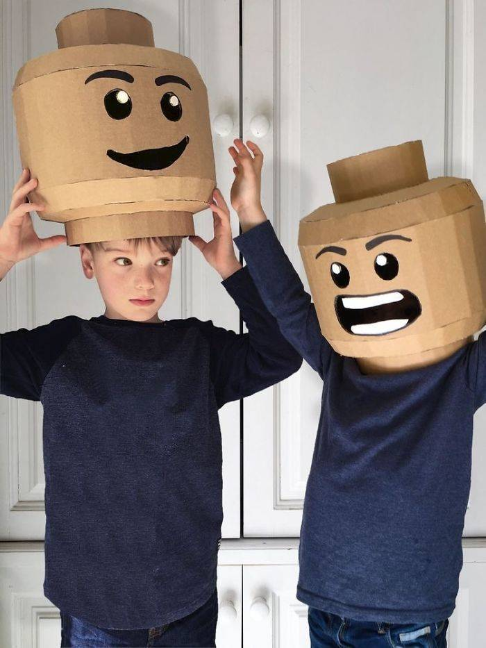 Mom Crafts Amazing DIY Cardboard Costumes For Her Kids