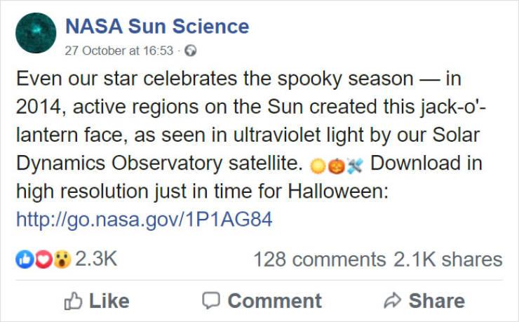Looks Like It's Already Halloween On The Sun